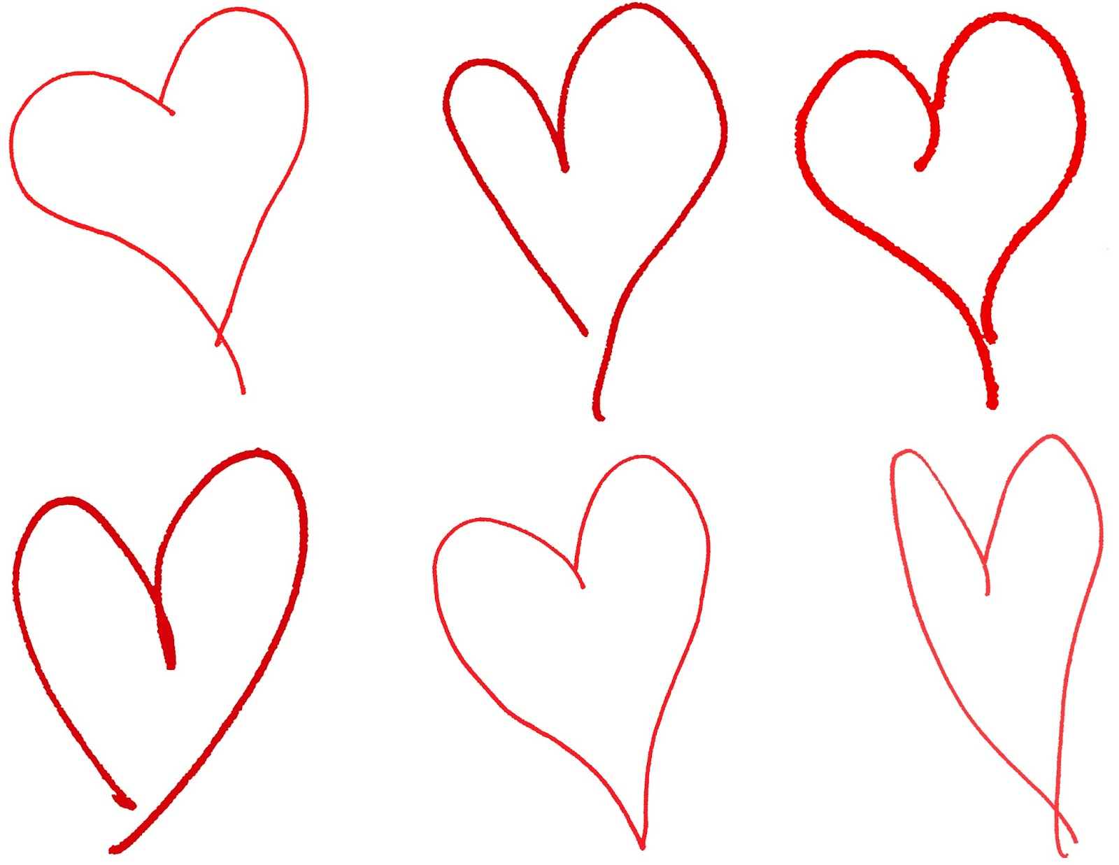 1600x1237 Digital Stamp Design Hand Drawing Hearts Royalty Free Valentine
