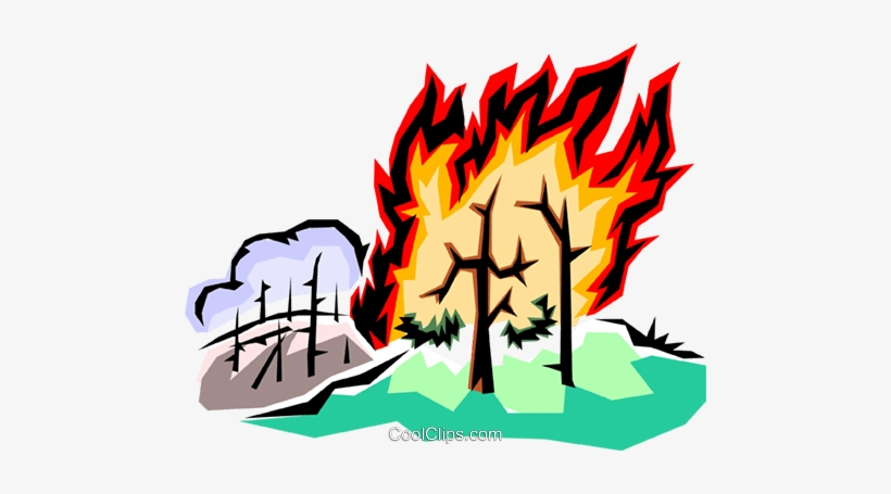 820x455 Forest Fire Royalty Free Vector Clip Art Illustration