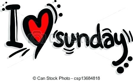 450x275 I Love Sundays Illustrations And Clip Art Royalty Free Drawings