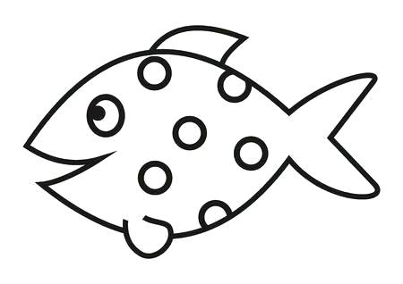 450x318 Simple Fish Drawing Simple Fish Drawing X Simple Koi Fish