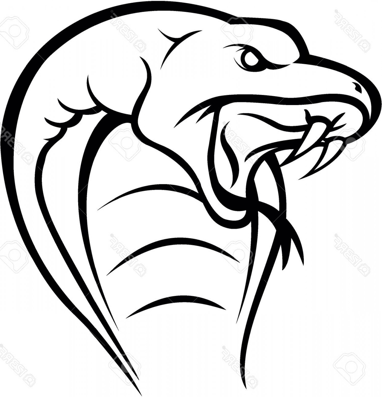 1501x1560 Snake Head Drawing Cobra Snake Head Royalty Free Cliparts Vectors