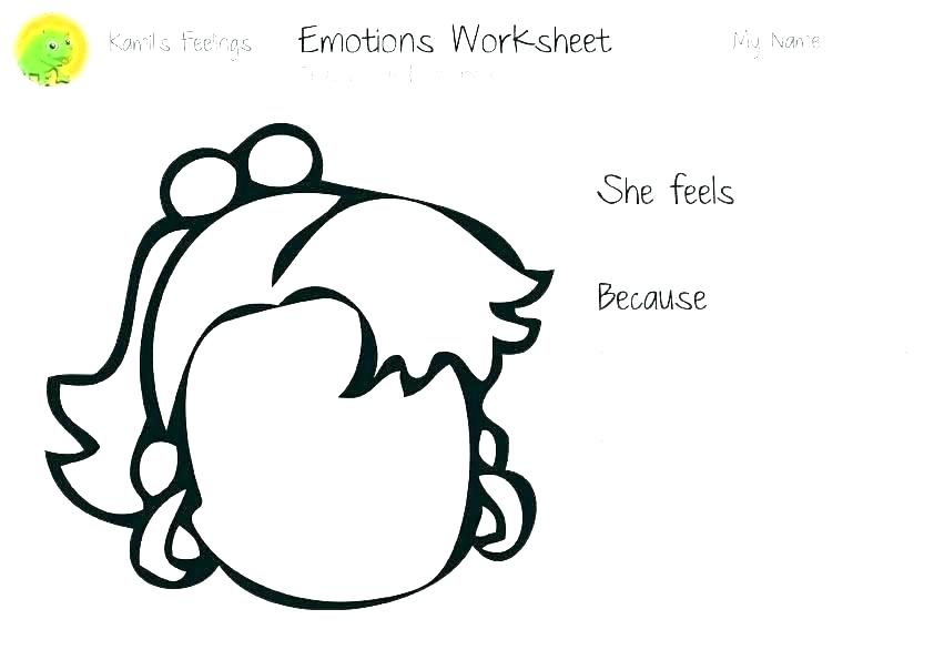 842x595 Emotion Worksheet Series Draw Your Upset Face And Tell About It