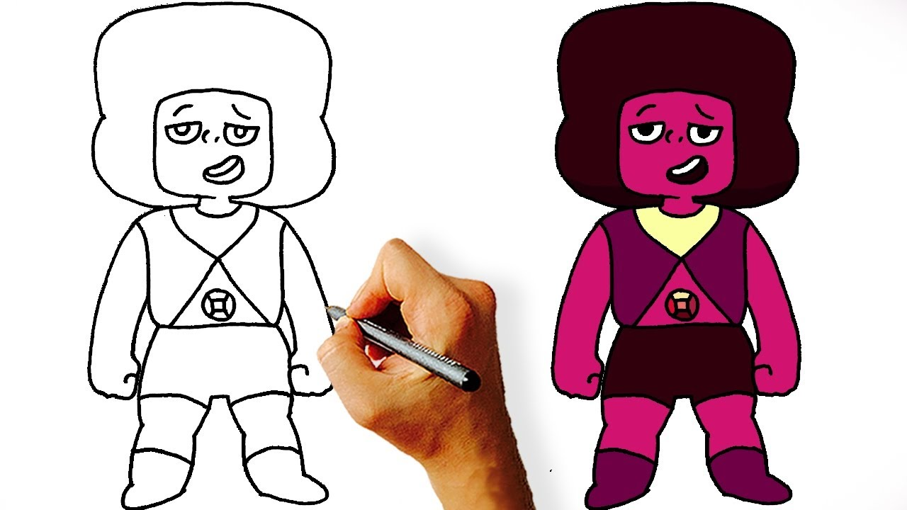 1280x720 Pk How To Draw Ruby Navy From Steven Universe Step