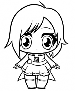 250x302 How To Draw Chibi Ruby Rose From Rwby Step Suicid Squad