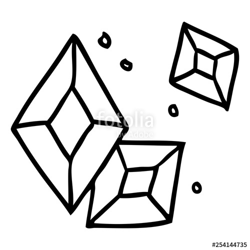 500x500 Line Drawing Doodle Of Some Ruby Gems Stock Image And Royalty