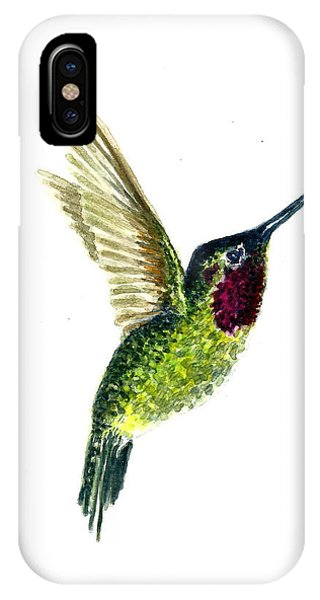 320x600 Hummingbird Drawing Iphone Cases Fine Art America