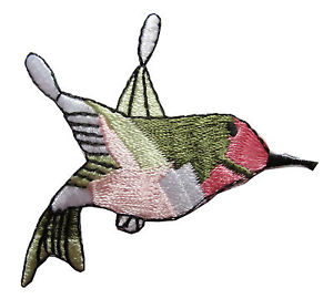 300x270 ruby throated hummingbird bird embroidery iron on applique