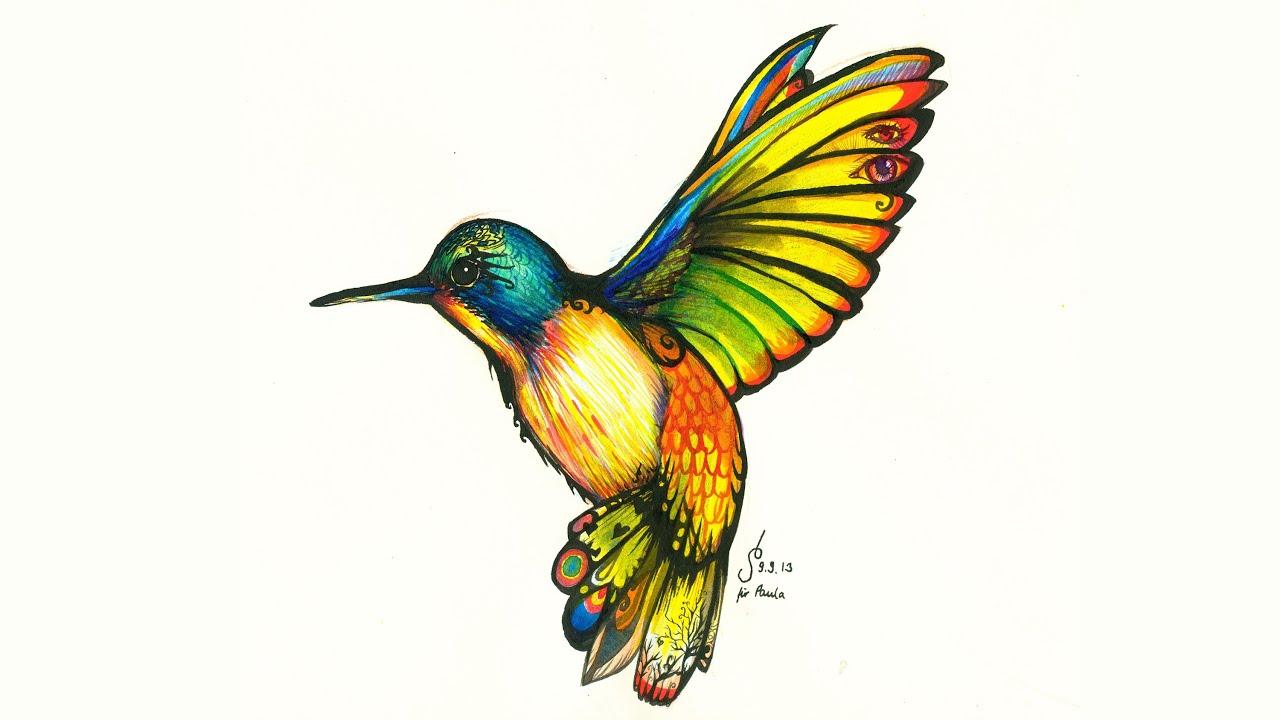 1280x720 Tattoo Hummingbird