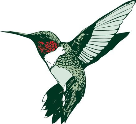 438x400 hummingbird clipart ruby throated