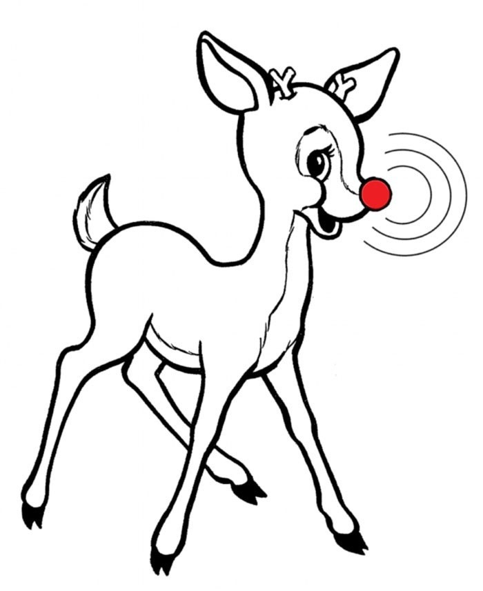 700x857 rudolph the red nosed reindeer drawing rudolph red nosed reindeer