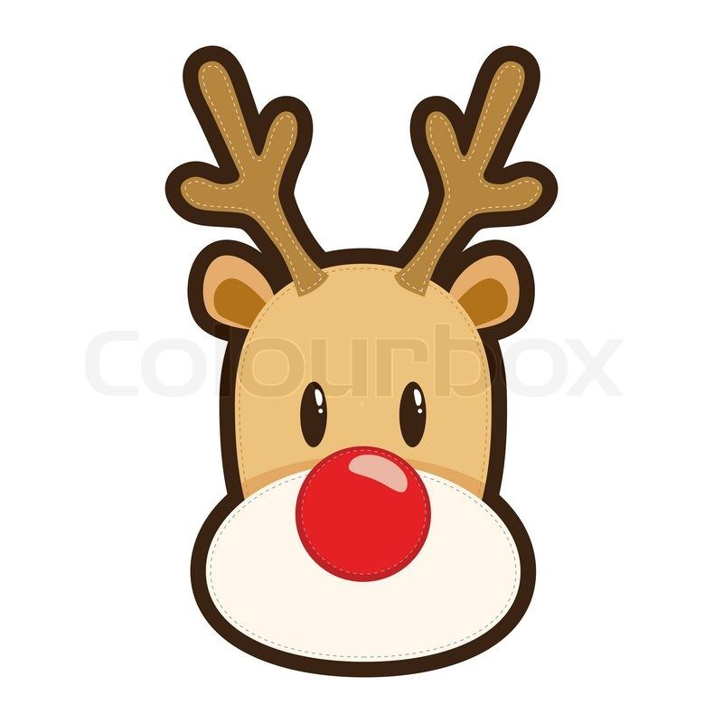 800x800 rudolph the red nosed reindeer face drawing reindeer face