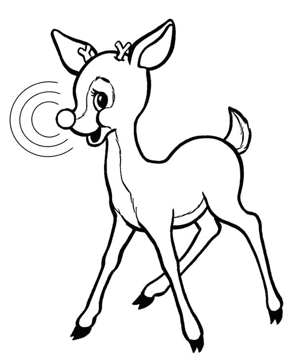 600x734 rudolph the red nosed reindeer coloring the red nosed reindeer