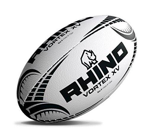 500x434 Rhino Unisex Vortex Xv Rugby Ball, White, Size