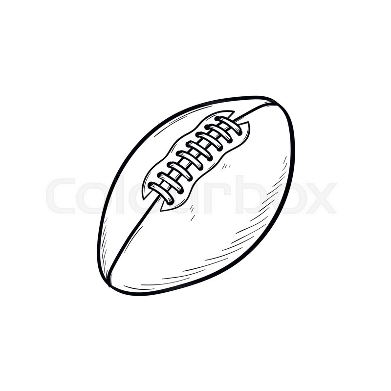 800x800 Rugby Ball Hand Drawn Outline Doodle Stock Vector Colourbox