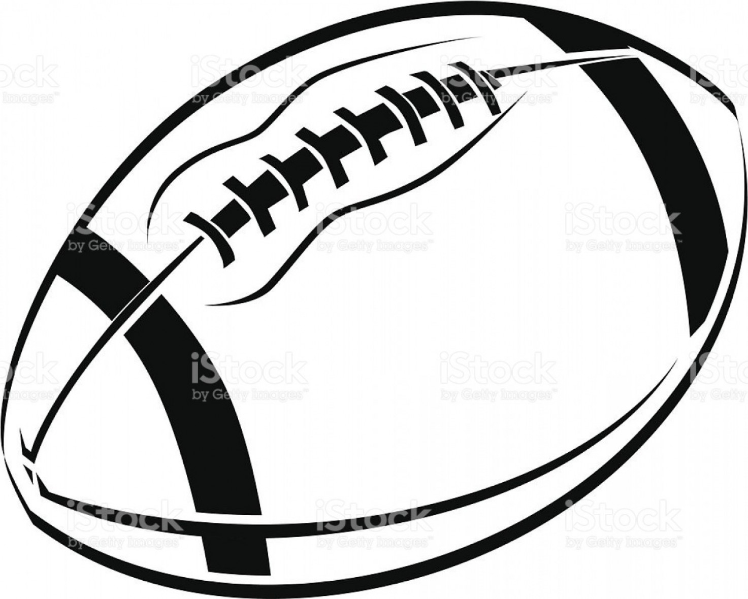 1473x1180 Black And White Line Art Drawing Of An American Football