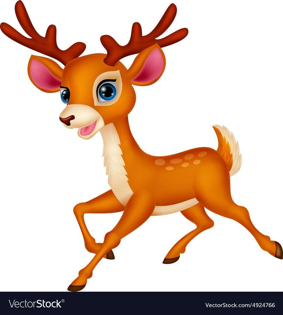 970x1080 Cute Deer Cartoon Running Vector Image On Deer Cartoon