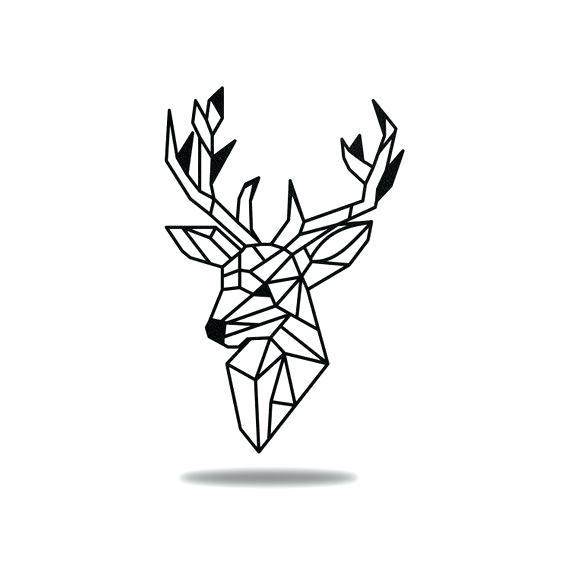 570x566 Deer Metal Wall Art Geometric Deer Metal Wall Art Running Deer