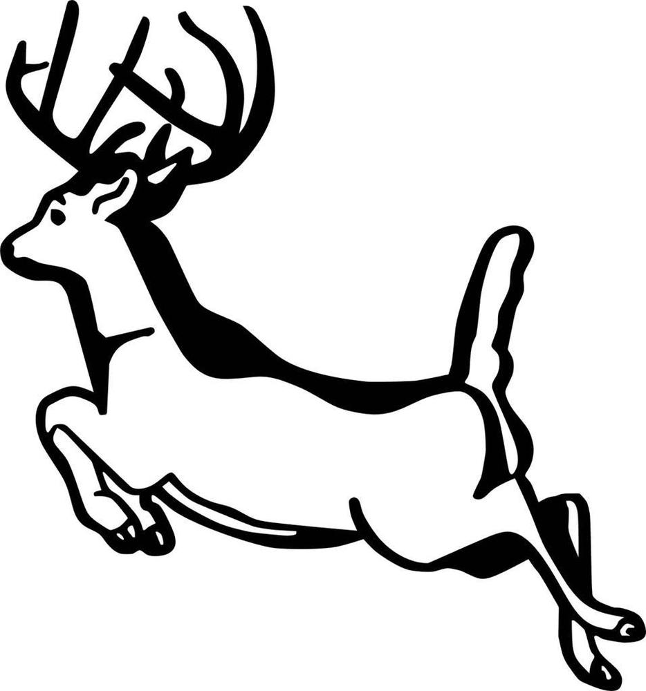 934x1000 Running Deer Decal Vinyl Wall Deer Sticker