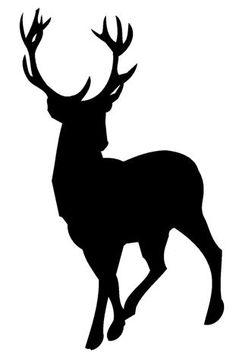 236x364 Running Deer Silhouette