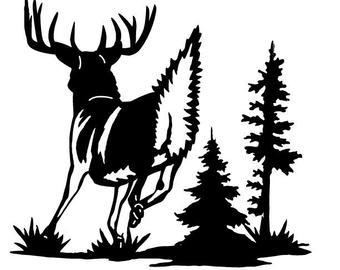 340x270 Running Deer Art Etsy