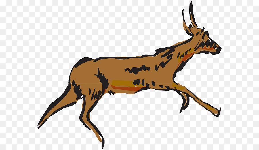 900x520 Antelope, Drawing, Deer, Transparent Png Image Clipart Free Download