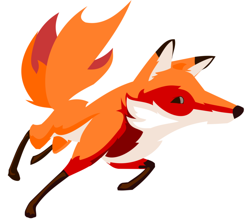 851x750 Drawing Fox Running Art Cc0