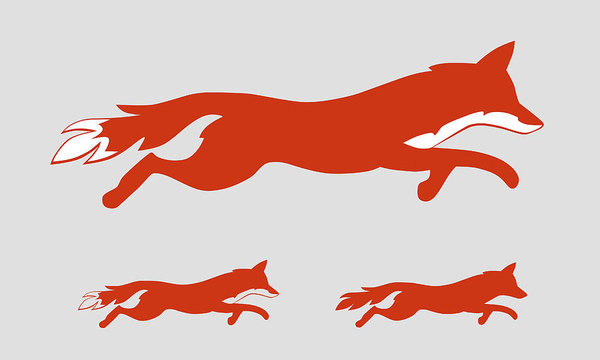 600x360 Running Fox Icon Art Print
