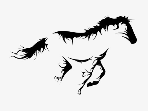 500x375 horse, horse clipart, running horse, hand painted horse png image
