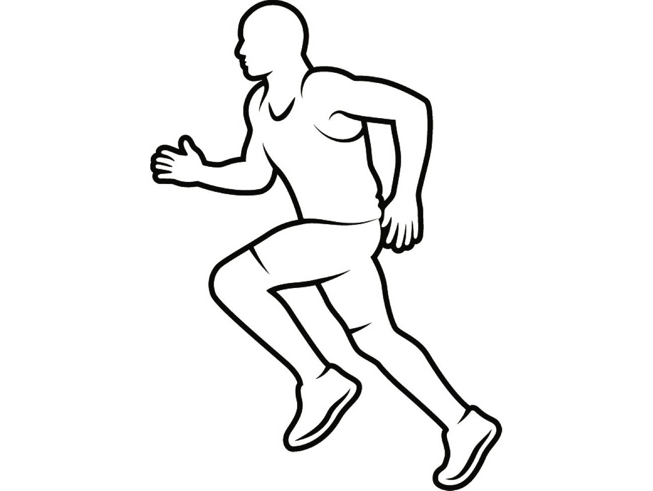 Running Person Drawing