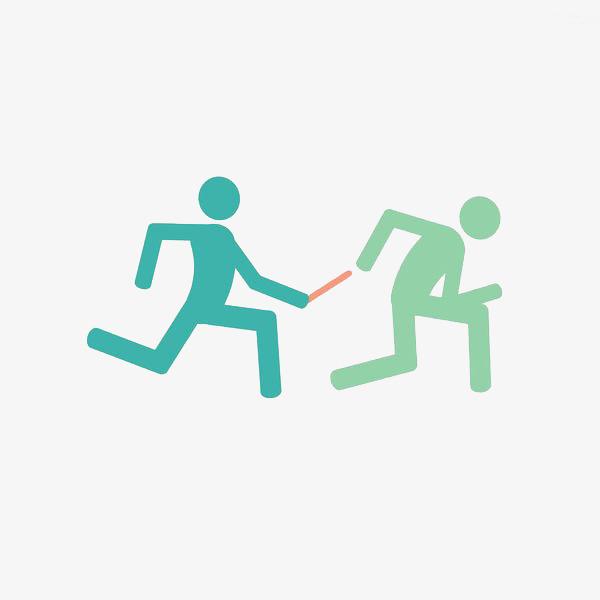 600x600 team running race relay, team clipart, race clipart, cartoon hand
