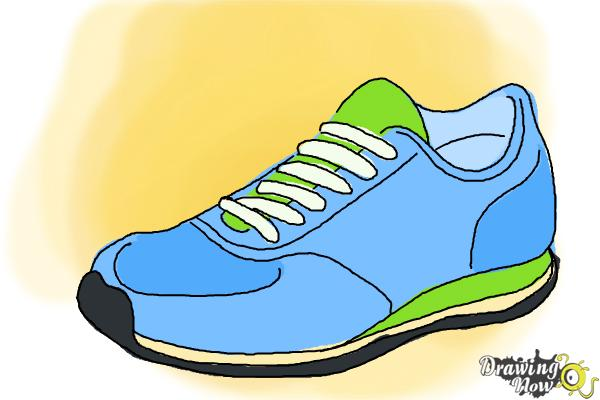 600x400 How To Draw Running Shoes