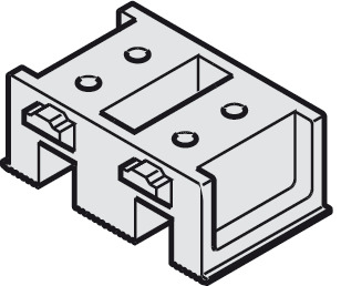 308x258 Track End Piece, For Double Top Running Track
