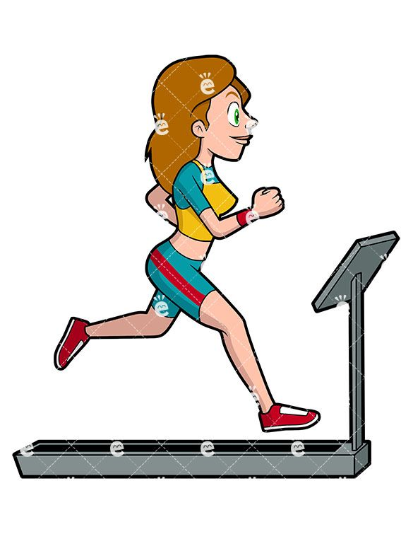 585x755 a woman running on a treadmill reff person running, running