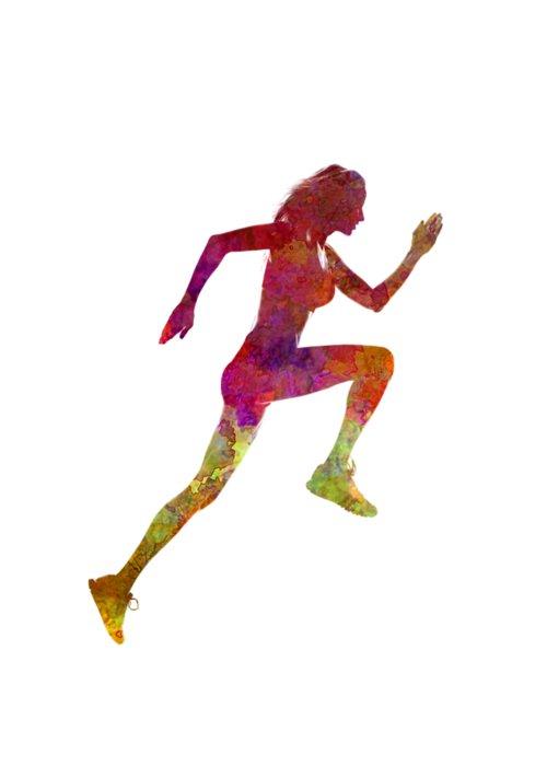 500x700 woman runner running jogger jogging silhouette greeting card
