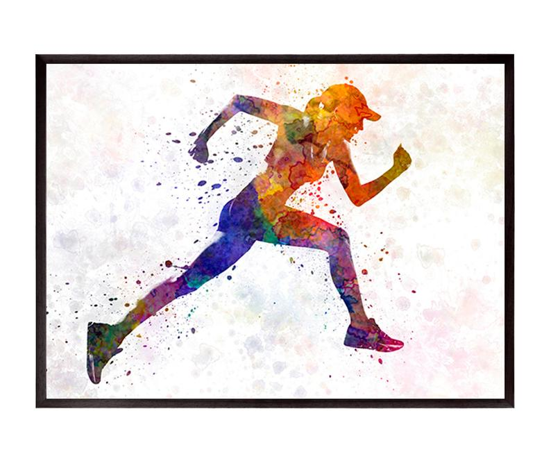 794x664 woman runner jogger running in silhouette in to etsy