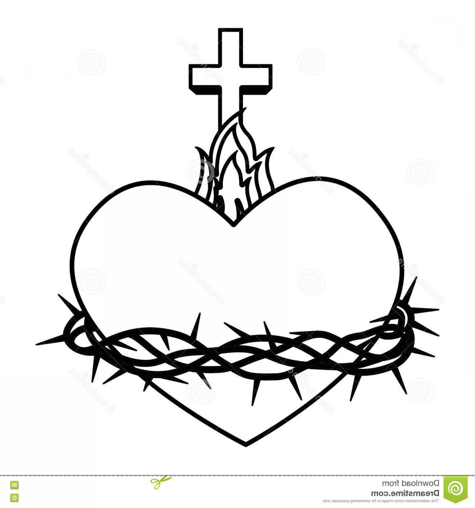 Sacred Heart Drawing Free Download Best Sacred Heart