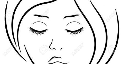 471x250 Sad Closed Eyes Drawing Line Cartoon Christmas Game Half Woman