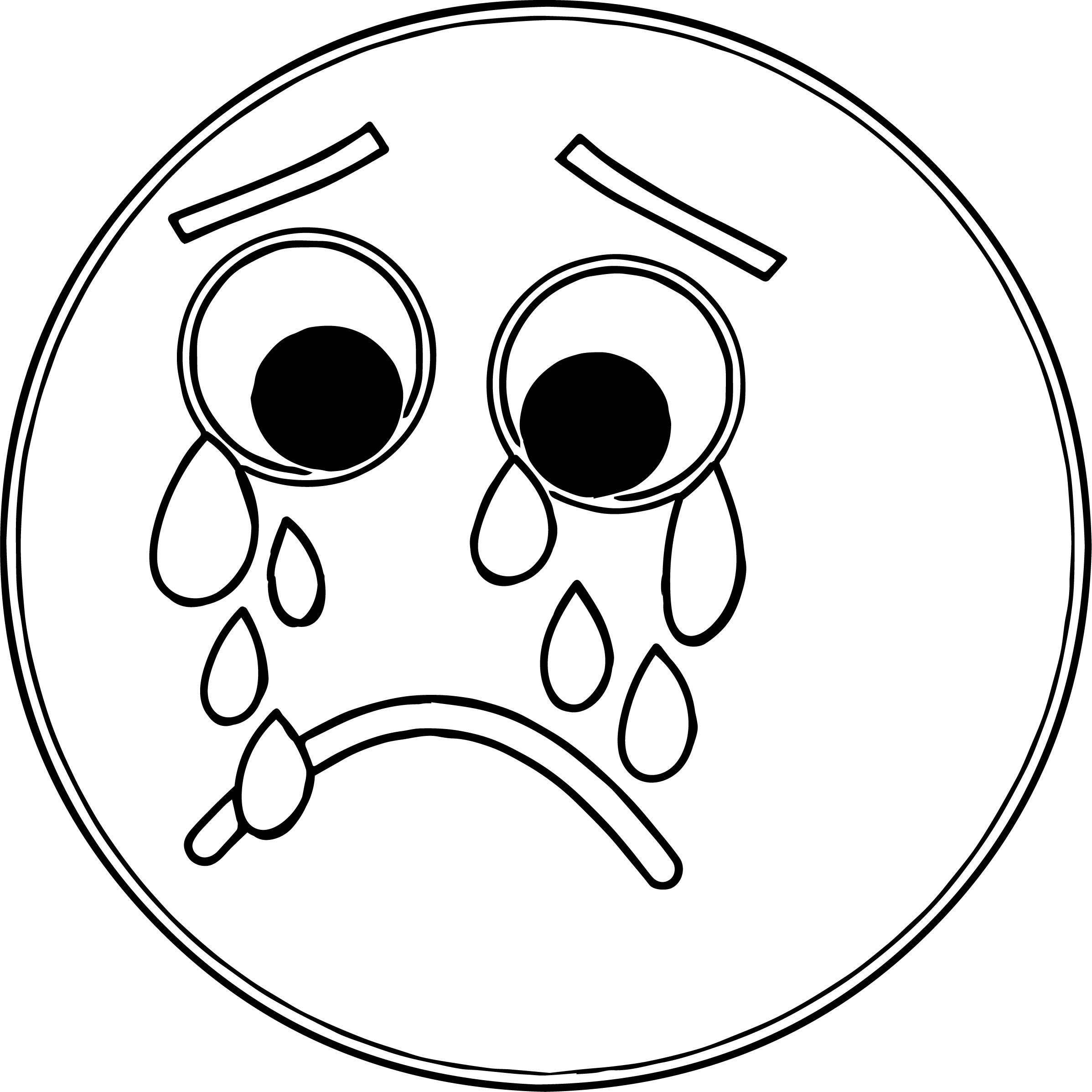 2395x2395 Sad Coloringe Getes Anime Emoji For Adults Happy Girl Remarkable