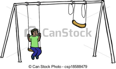 450x267 swing set drawing lonely child on swing set sad child alone