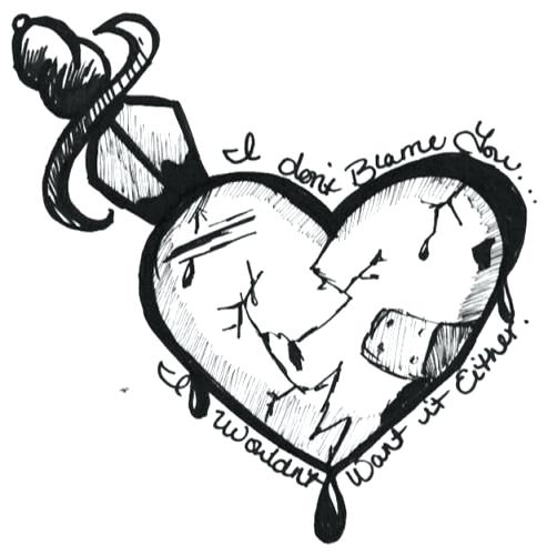 502x500 drawings broken heart broken heart sad drawings of broken heart