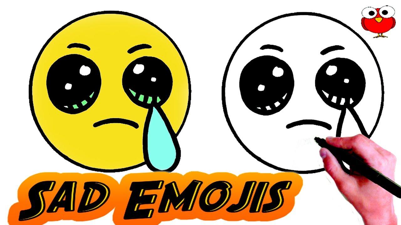 1280x720 How To Draw Sad Emoji Step
