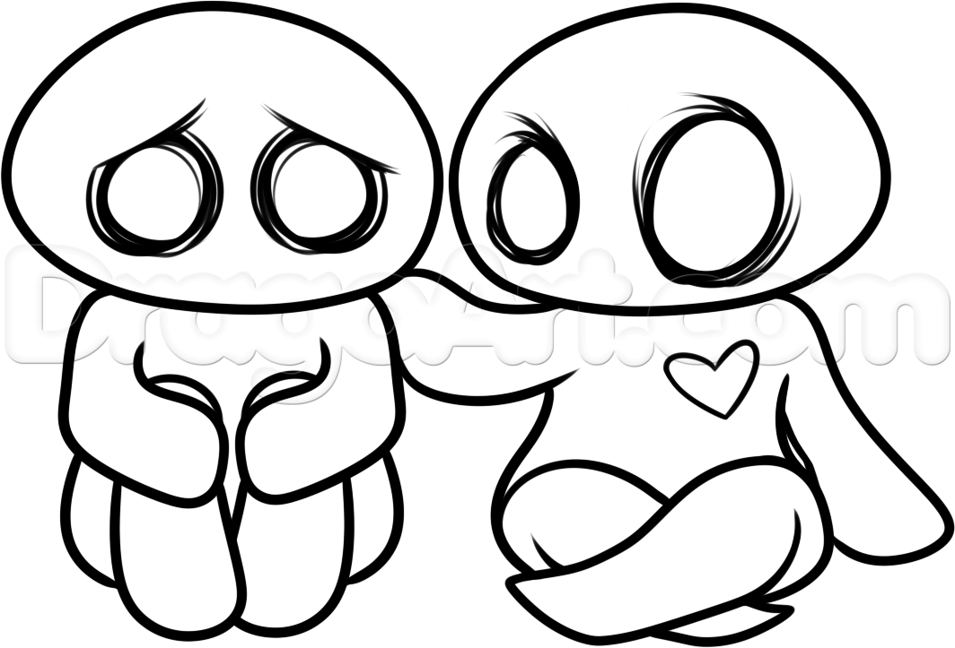1064x723 How To Draw An Emo Couple Step Emo