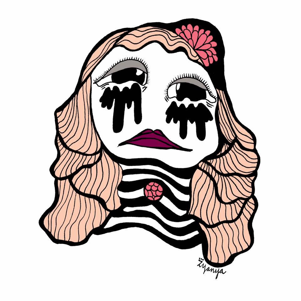 960x960 Sad Girl Print Etsy