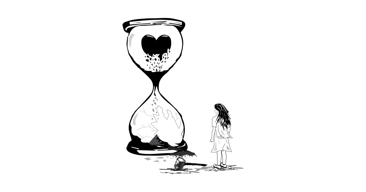 1200x630 The Sad Girl Using Hammer Smashing The Love Hourglass