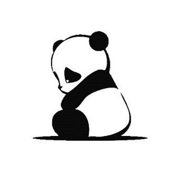 570x572 cute sad panda decal sad panda window decal sad panda etsy