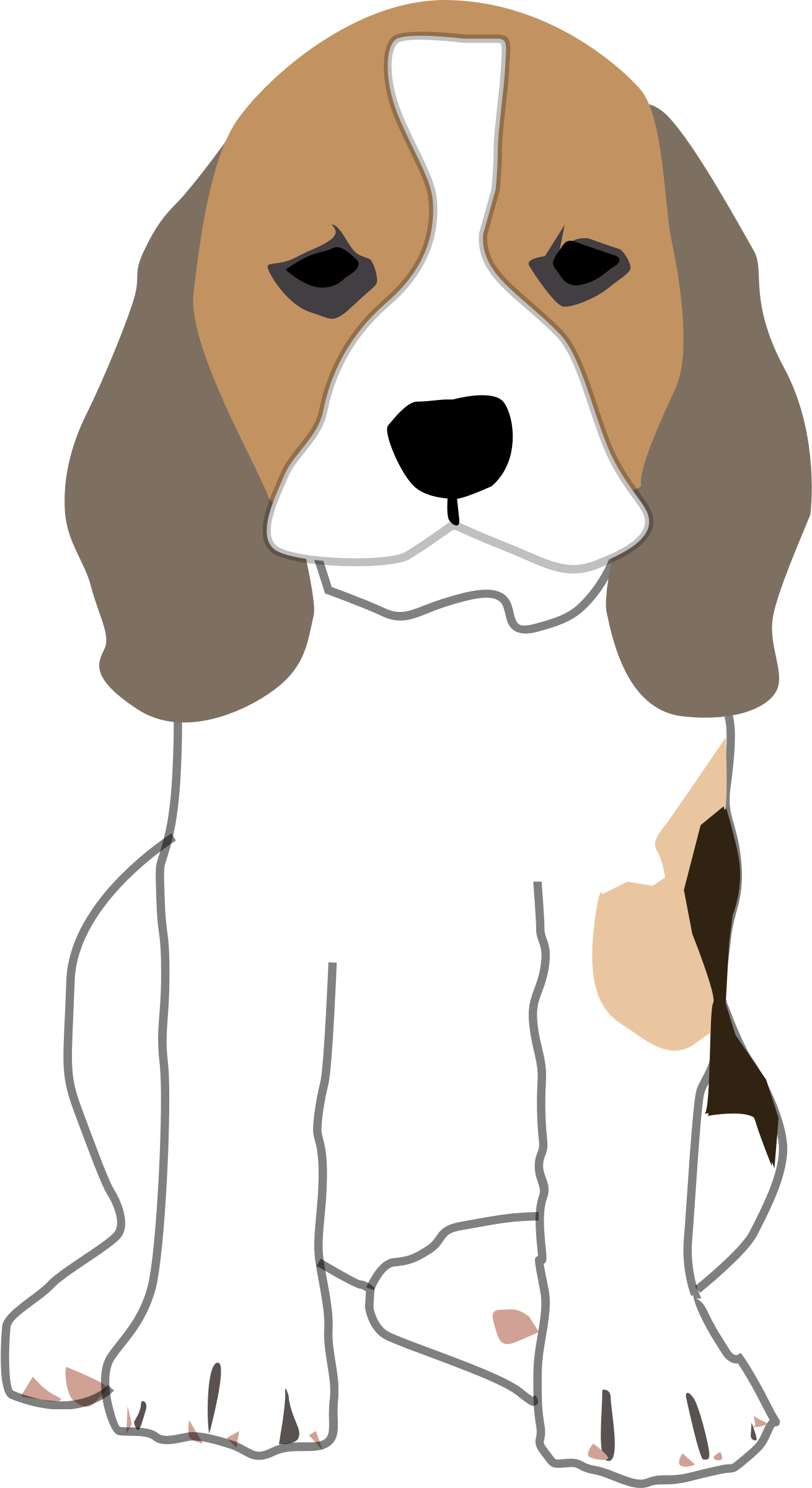 Sad Puppy Drawing