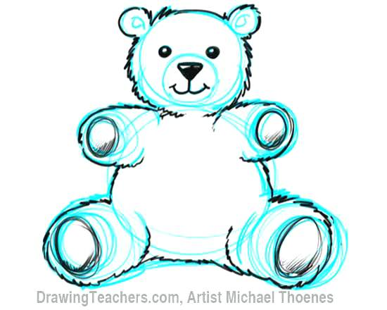 550x440 teddy bear drawings how to draw a teddy bear step teddy bear