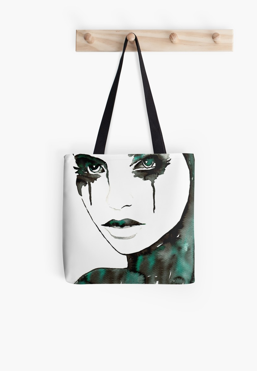 831x1200 sad woman, beauty woman, crying woman tote bag