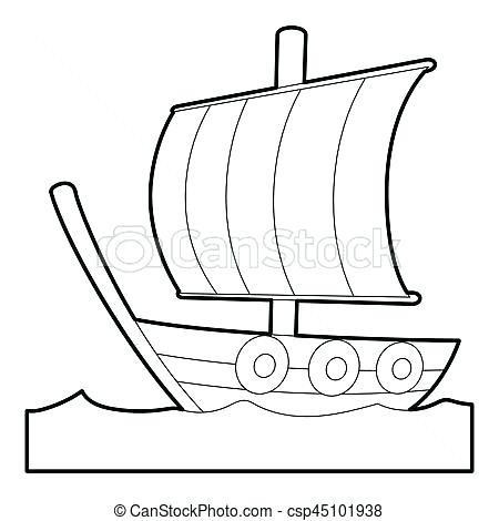 450x470 ship outline sailing ship icon outline style cruise ship outline