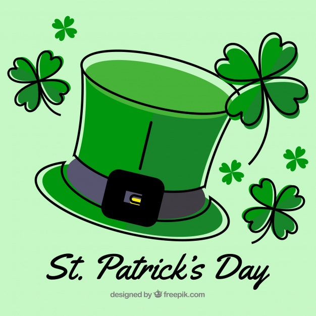 626x626 Hand Drawn St Patrick's Day Background Vector Free Download